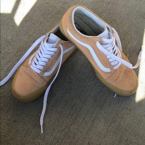 Vans light pink low top sneakers